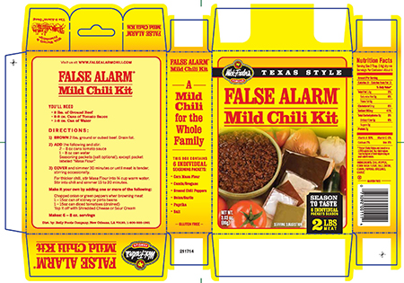 Reily Foods Re S Chili Seasoning Kits Due To Undeclared Peanut And Almond Allergens