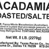 Texas Pecan Company Voluntarily Recalls Macadamia Nuts and Products Containing Macadamia Nuts Because of Possible Salmonella Contamination