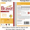 Bravo Recalls Select Chicken Pet Foods Because of Possible Salmonella Health Risk